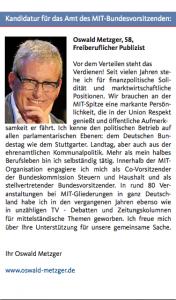 Kandidatur Oswald Metzger