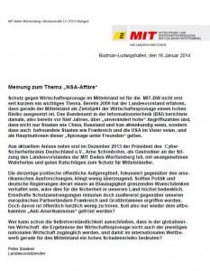 Statement NSA